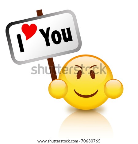 stock photo : I love you icon