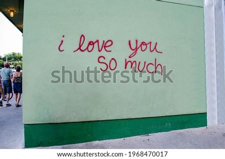 I love you so much wall Stok fotoğraf ©