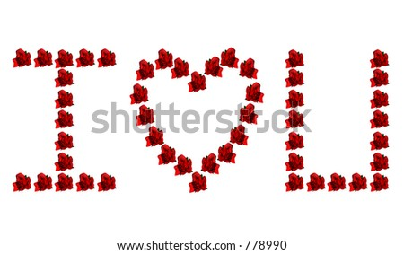 love you hearts and rosesI Love You Hearts And Roses