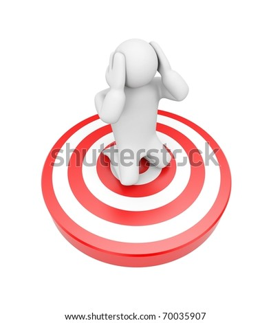 I'm a target. Image contain clipping path