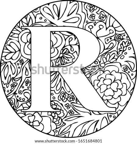 I've created a R monogram with flowers and leaves suitable for digital projects, crafts, hobby, cards, invitations, weddings, logos, website or crafts projects. Photo stock ©