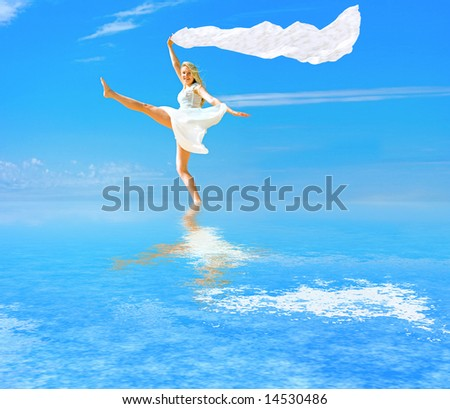 i walk on water and fly like a wind    -  of  \