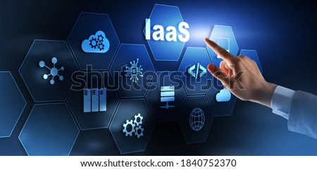 IaaS Infrastructure as a service cloud computing service model.