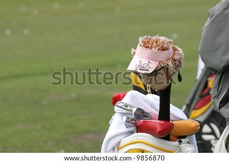 Ian Poulter bag, Open de France 2006, golf National, Albatros course, Paris