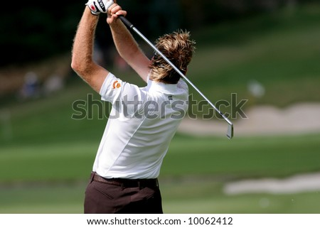 Ian Poulter on 17, Volvo European Masters, Valderrama, Spain, 2005
