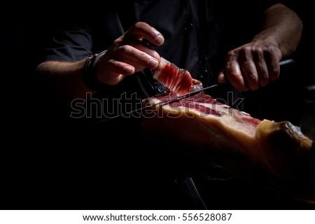 Iberian ham cutter Stock photo ©