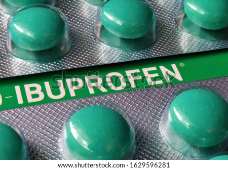 Ibuprofen is a medication in the nonsteroidal anti-inflammatory drug class that is used for treating pain, fever, and inflammation. This includes painful menstrual periods, and migraines.