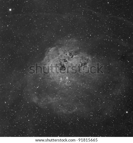 IC 410, The Tadpole Nebula in Hydrogen Alpha, located in the constellation Auriga