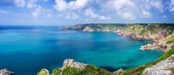 Icart point panorama, Guernsey