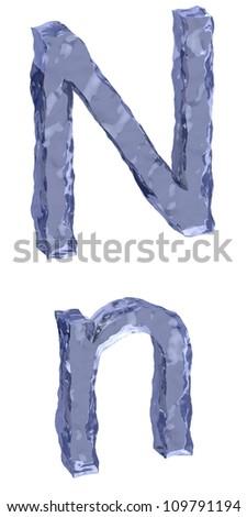 Ice alphabet letter N