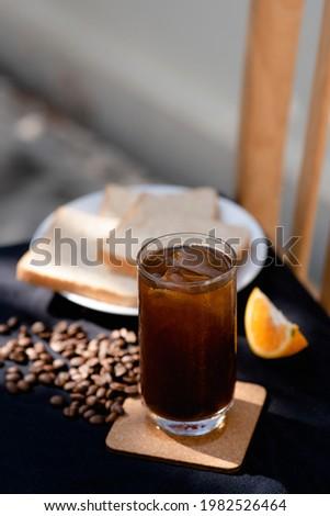 Ice Americano Black Coffee Nutrual lighting Foto stock ©