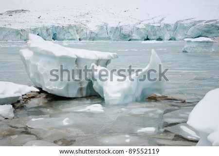 Ice and glaciers, Mount Edith Cavell Jasper National Park Alberta