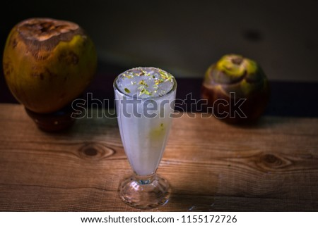 Ice apple tender coconut juice for as a summer drink