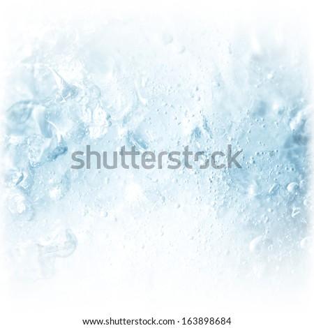 ice background - stock photo