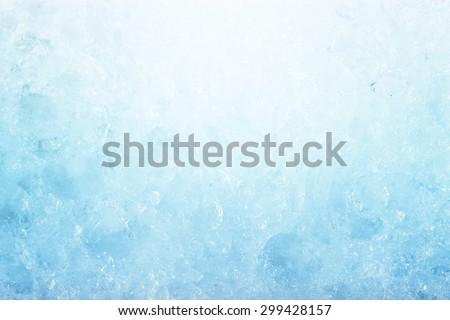 ice background, frozen water, blue