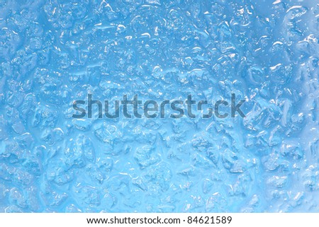 ice background in blue