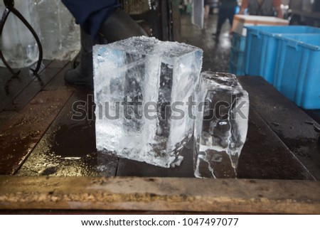 ice block in the old fish...