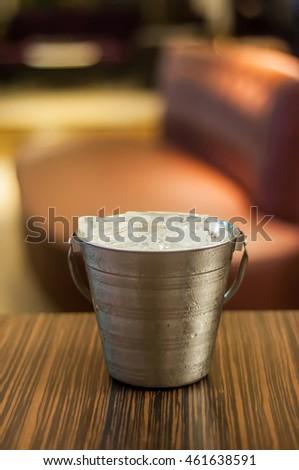 Ice bucket in thailand. Portrait #461638591