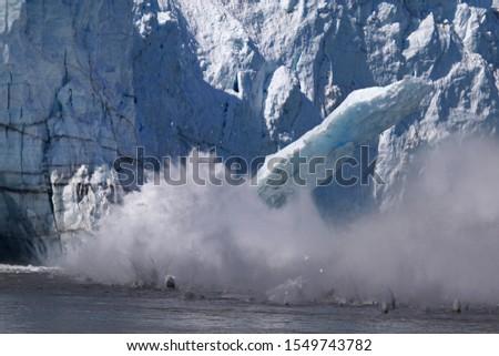 Ice calving from Margerie glacier in Glacier Bay #1549743782