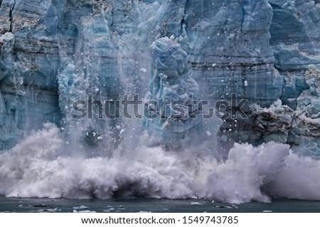Ice calving from Margerie glacier in Glacier Bay #1549743785
