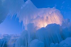 Ice Castles of Silverthorne, Colorado.