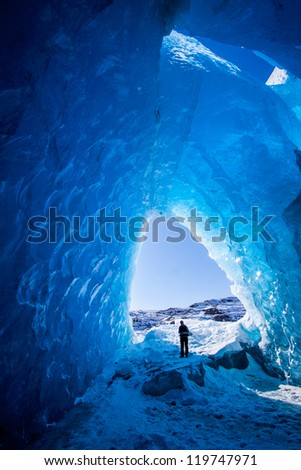 Ice cave in the Glacier