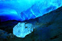 Ice Cave within Mendenhall Glacier, Juneau, Alaska, USA