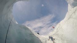 Ice Climbing on Root Glacier in McCarthy Alaska
