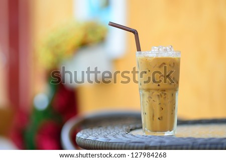 Ice Coffee on table