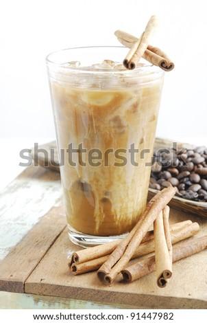 ice coffee with cinnamon