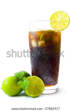 Ice cold cola drink