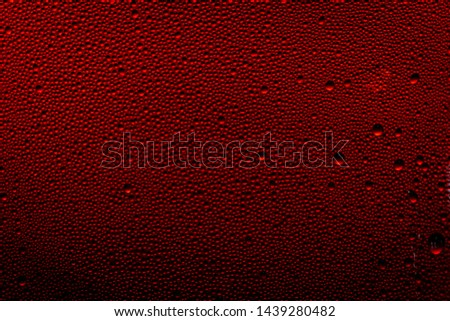 Ice cold glass fresh coca cola covered with water drops condensation Cold drink Drops of water cola drink background Raindrops texture Close up Zdjęcia stock ©