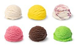 ice cream ball isolated on white background