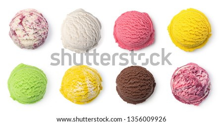 ice cream ball isolated on white background