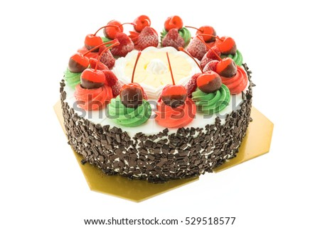 ice cream cake with christmas...
