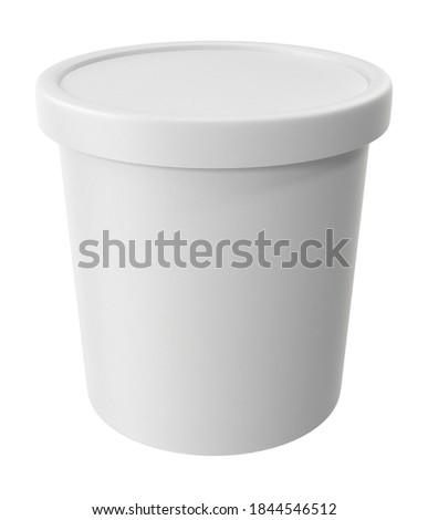 Ice Cream Pint 3D illustration on white background Stock fotó ©