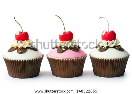 Ice cream sundae cupcakes #148322855