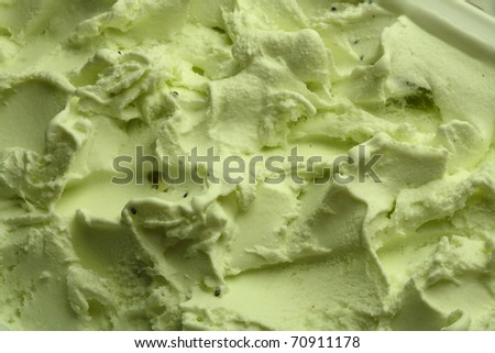Ice-cream texture: kiwi. Appetizing ice-cream background