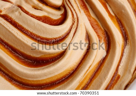 Ice-cream texture: mango, passion fruit, peach. Appetizing ice-cream background