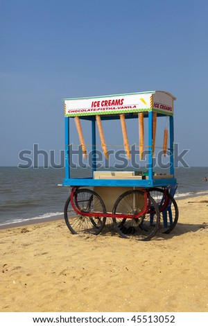 Ice cream vendor on the beach