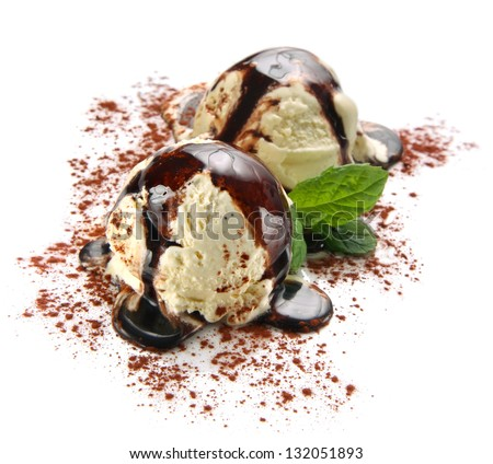 Ice cream with tiramisu flavor