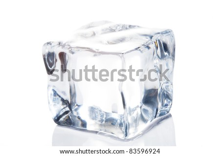 Ice cube isolate on white
