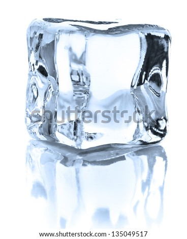 Ice cube isolated on white background cutout