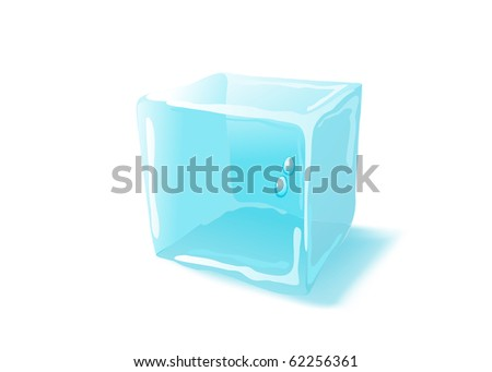 Ice cube. Raster version. Vector version is in my gallery