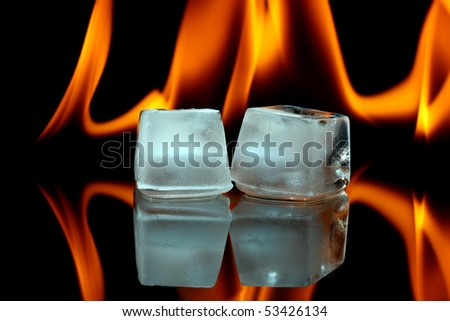 Ice cubes and fire