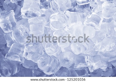 Ice cubes as a background