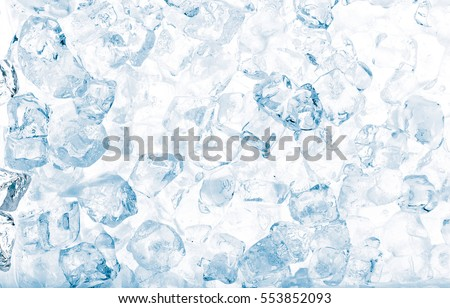 Ice cubes background.