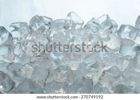 Ice cubes, ice cubes  background / ice cubes isolated on white   #270749192