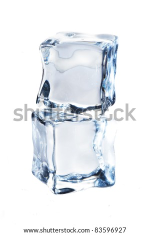 Ice cubes isolate on white