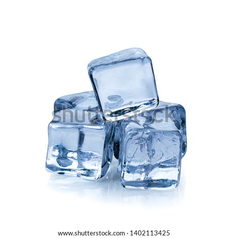 Ice cubes isolated over a white background